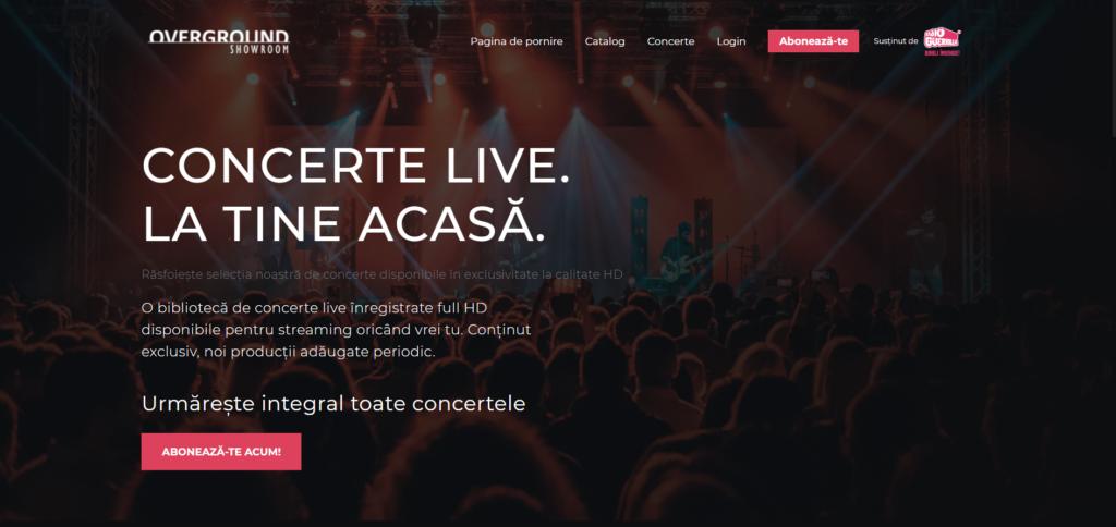 Overground Showroom - platformă de concerte on-demand