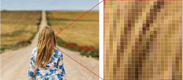 Breaking an image into pixels