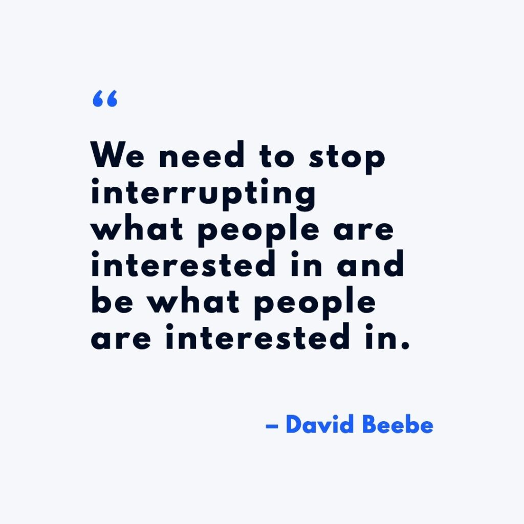 Marketing Quote: Against Disruption