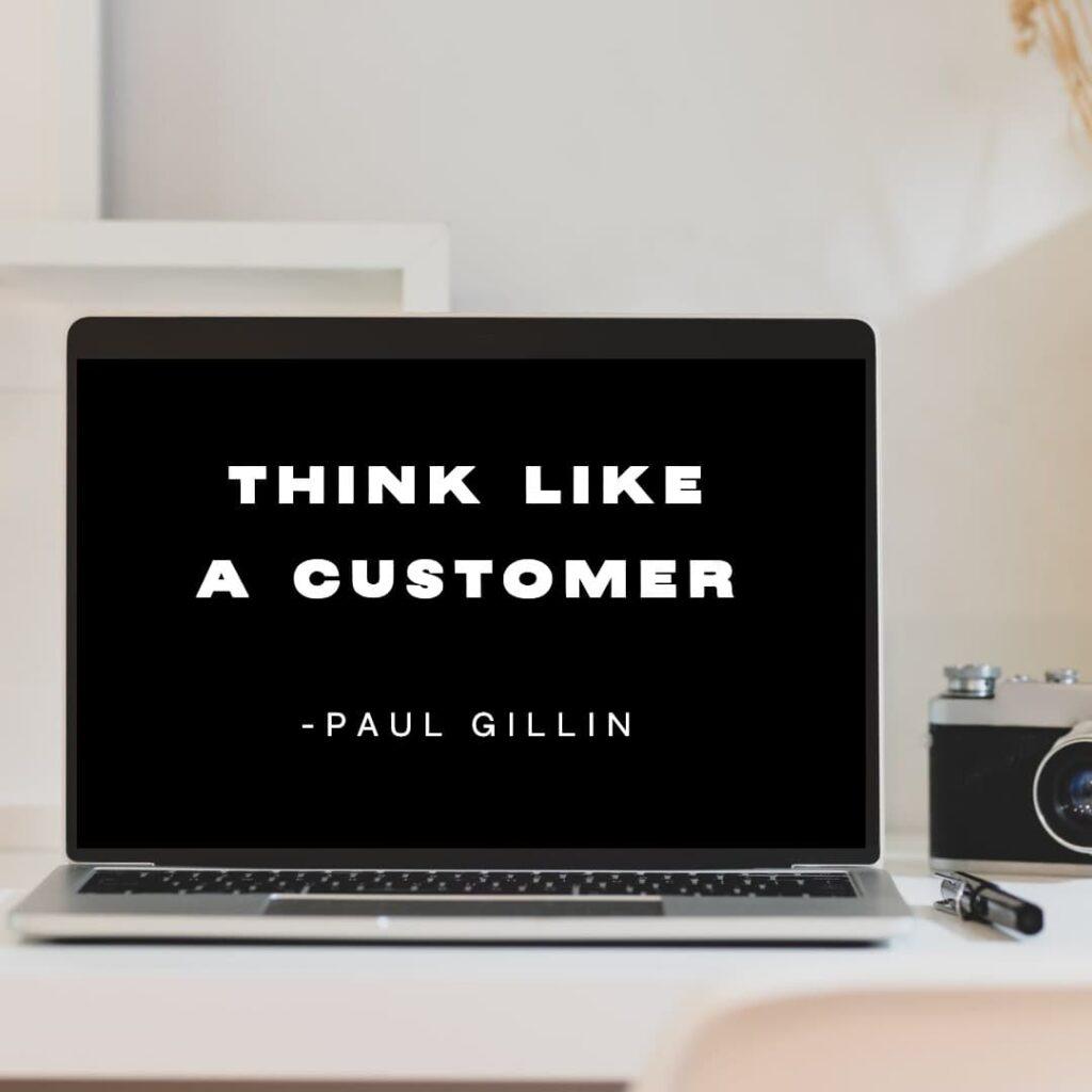 Marketing principles: think like a customer