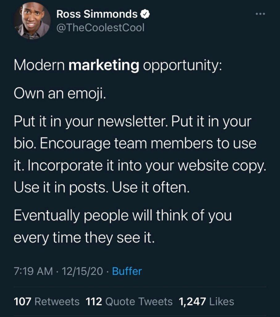 Marketing tip: own an emoji