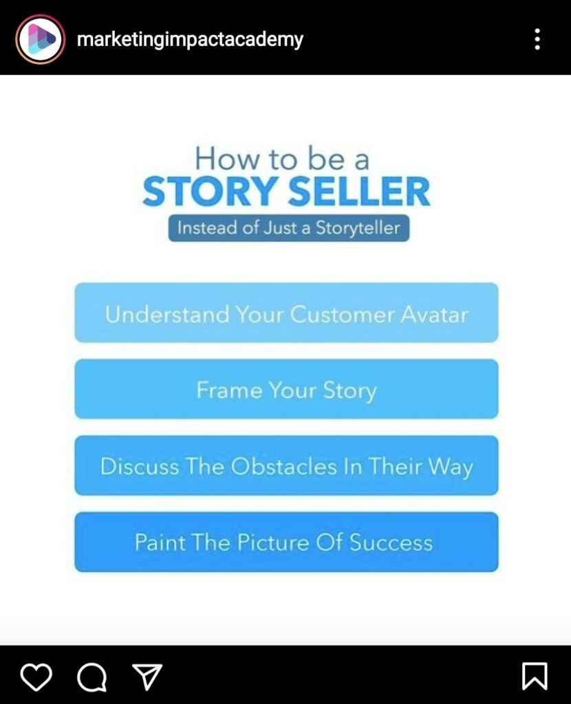 Storytelling and storyselling