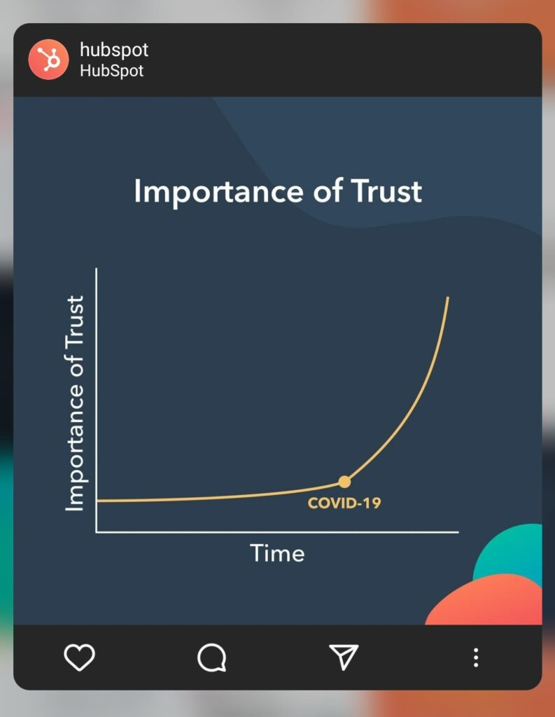 Hubspot importance of trust during COVID-19