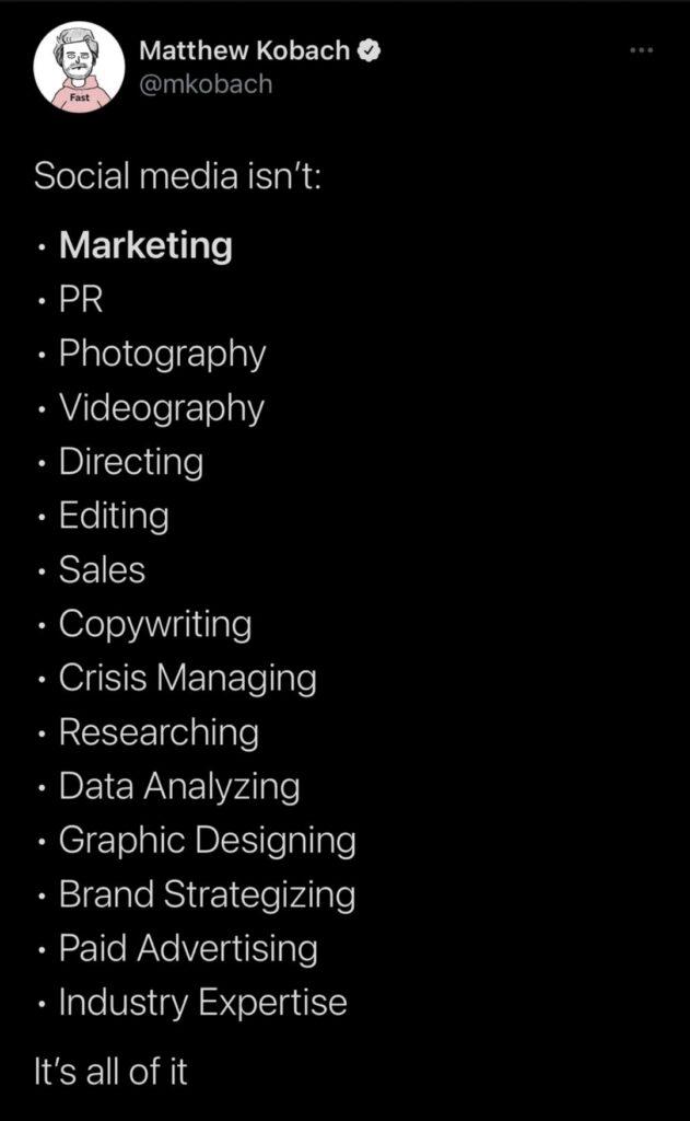 Skills of a social media manager