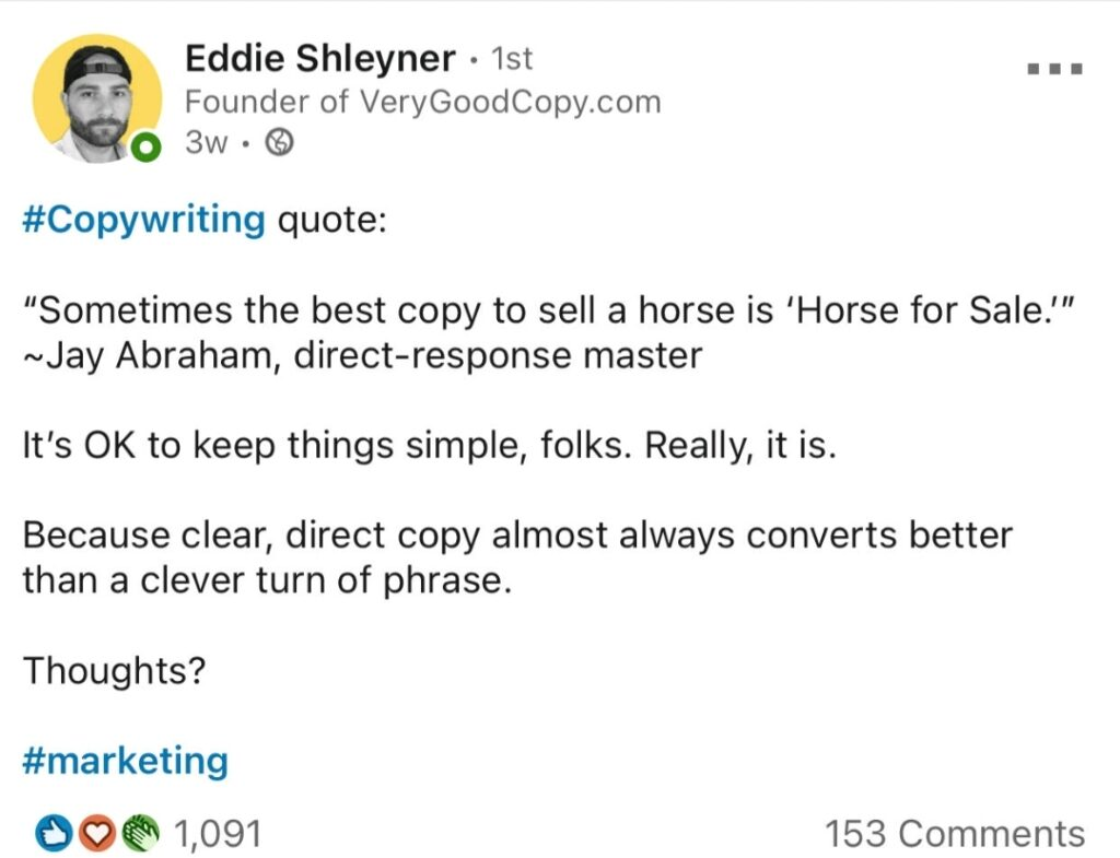 Copywriting tips about simplicity
