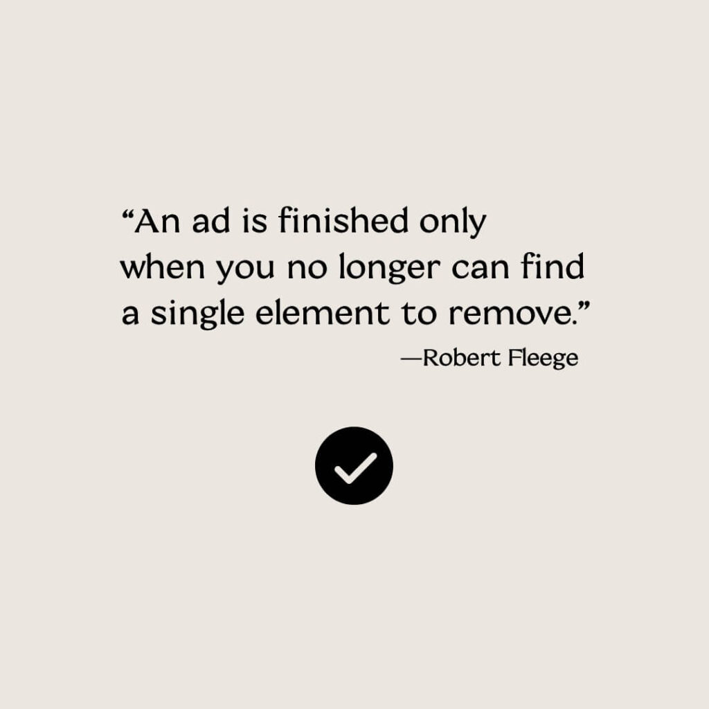 Marketing quote: ads and editing